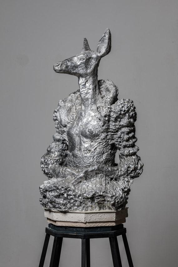 """""""Eugenia"""", Aluminium, 90 x 50 x 40 cm, 2017"""