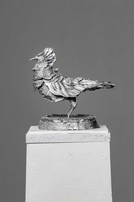 """""""Vogel I"""", 26 x 26 x 24 cm, Aluminium, 2017"""