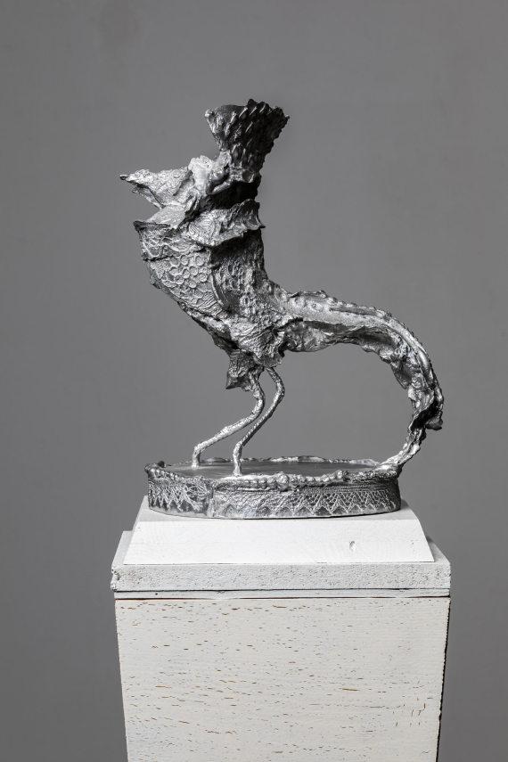 """""""Vogel II"""", 14 x 18 x 24 cm, Aluminium, 2017"""
