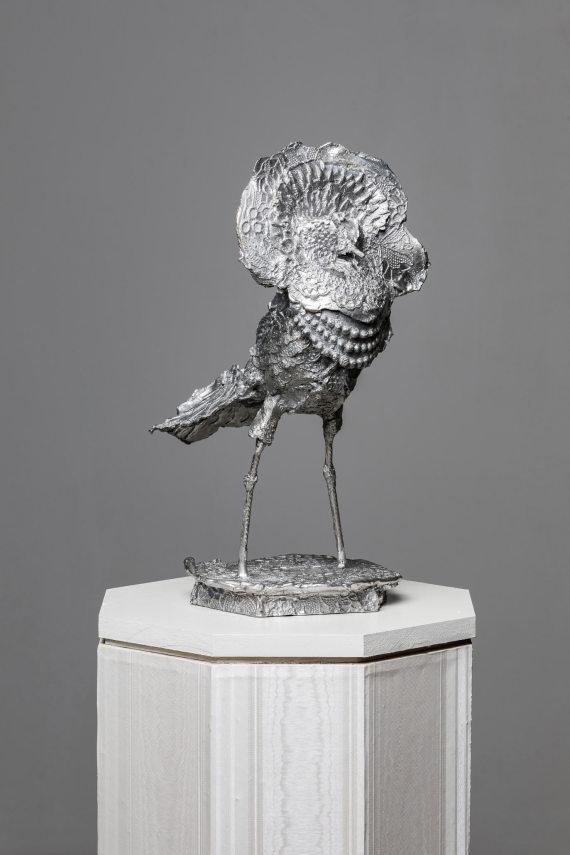 """""""Vogel III"""", 32 x 20 x 20 cm, Aluminium, 2017"""