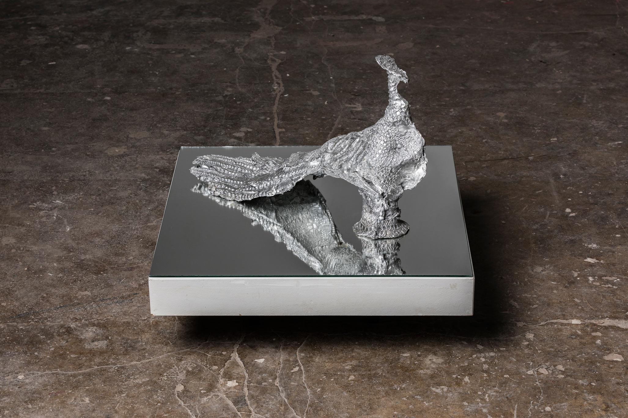 """""""Vogel IV"""", 65 x 21 x 40 cm, Aluminium"""