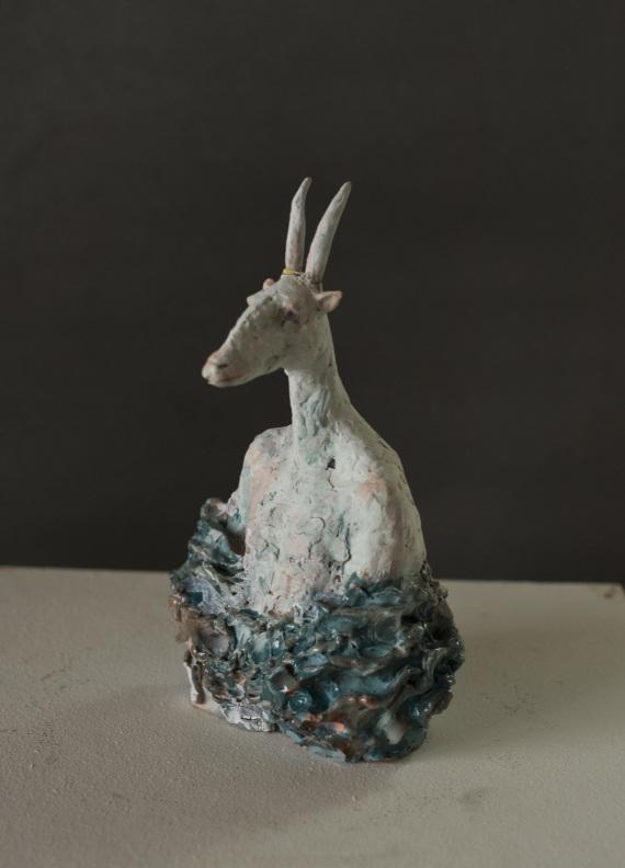 """""""Tierbüste"""", Keramik, 25 cm, 2017"""