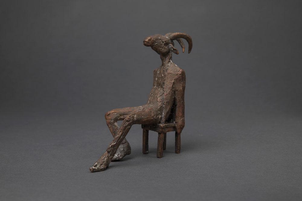 """""""Ziegenmann"""", Bronze, 15 cm, 2011"""