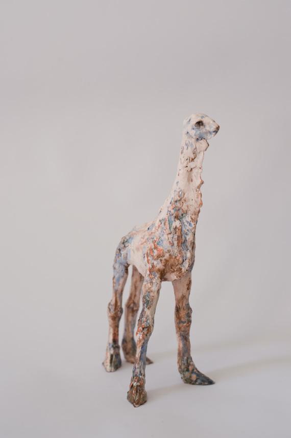 """""""das Tier"""", Keramik, 27 x 15 x 11 cm, 2017"""